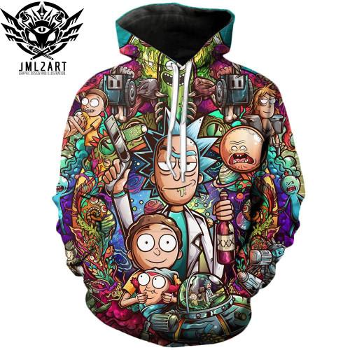 Rick and Morty Hoodies By jml2 Art 3D Unisex Sweatshirt Men Brand Hoodie Comic Casual Tracksuit Pullover DropShip Streetwear
