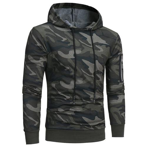 Bolubao New Men Hoodies Sweatshirt Brand Autumn Military Camouflage Hooded Sportswear Casual Jacket Male Pullover Coat M-3XL