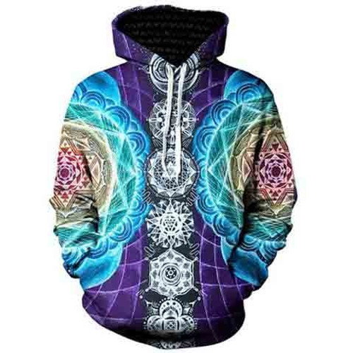 New 2018 fashion comfortable fashion men and women hooded 3D digital printing hoodie shirt round neck pullover