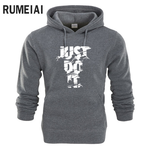 RUMEIAI hoodie Men Letter 3D print Hip Hop Sweatshirt fashion Mens hoodie 2017 brand Winter Cotton pullover male hoody Moleton
