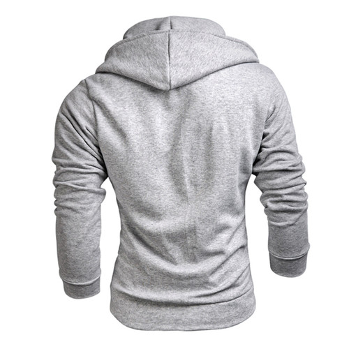 TANGNEST Men Hoodies 2018 New Design Male Solid Casual Fleece Sweatshirt Men's Slim Fit Zipper Popular Coat Size MWW883
