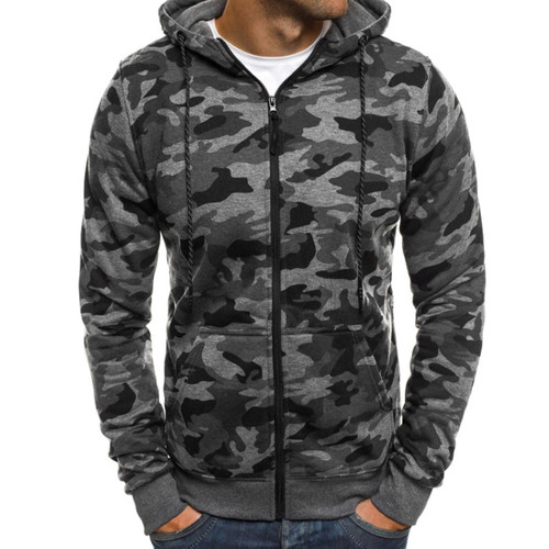2018 New Hoodie Men Camouflage Printing Flannel Hip Hop Sweatshirt Fashion Mens Hoodies Brand Autumn Cotton Pullover Male Hoody