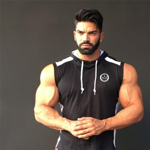 YEMEKE Men Gyms Hoodies Gyms Fitness Bodybuilding Sweatshirt Fashion Pullover Sportswear Male Workout Hooded Jacket Clothing