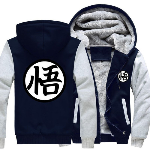 2018 Autumn Winter Jackets Anime Dragon Ball Z Sweatshirt Men Fashion Streetwear Fleece Hoody Men's Sportswear Harajuku Jacket