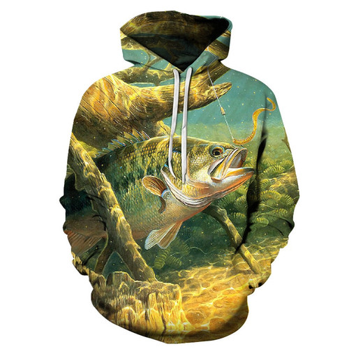 Hot Sale Fish Hoodies 3D Hoodies Sweatshirts Men 3d Pullover Funny Print Tracksutis Casual Coats Boy Streetwear Male Outwear New