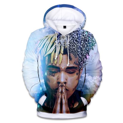 2018 New Raper Xxxtentacion 3D Print Hoodies Men/women Fashion Hip Hop 3D Xxxtentacion Men's Hoodies and Sweatshirt Clothes