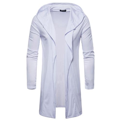 2020 Fashion Men's Long Style Hooded Cardigan Cape Coats Casual Male Long Sleeved Jacket Coats Men European Size M-2XL