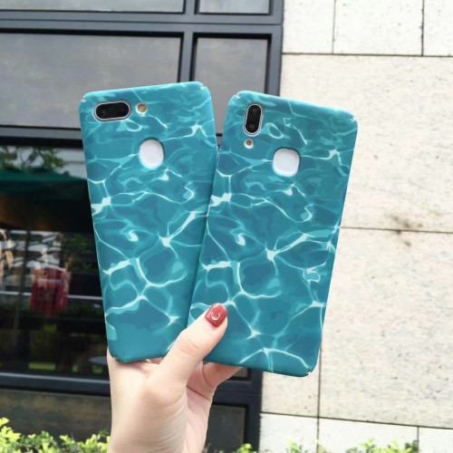 Blue water wave case for Vivo V9 Y85 V7 Plus Y79 Matte Hard PC Case for Vivo X20 X21 phone back cover