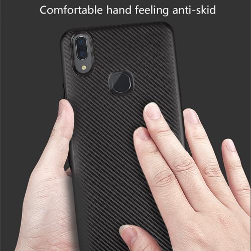 For VIVO V7 PLUS V9 case Luxury Shockproof Carbon Fiber Ultra Thin Soft TPU phone case for VIVO Y75 Y79 Y85 slicone back cover