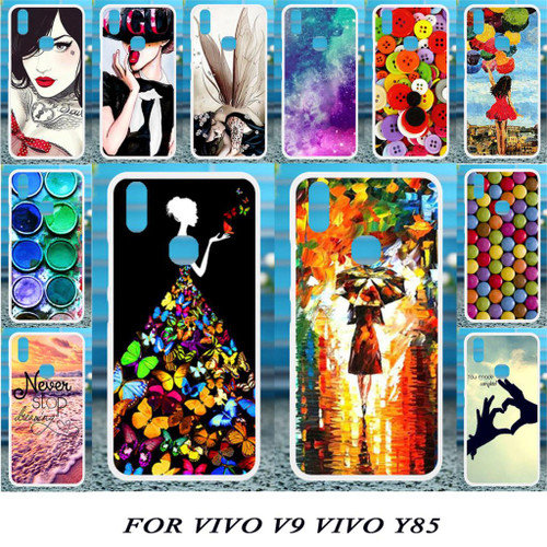 Akabeila Soft Cases For Vivo V9 Case Silicone For Vivo Y85 Case DIY Patterned For Case Vivo V9 Coque Fundas Housings Back Covers
