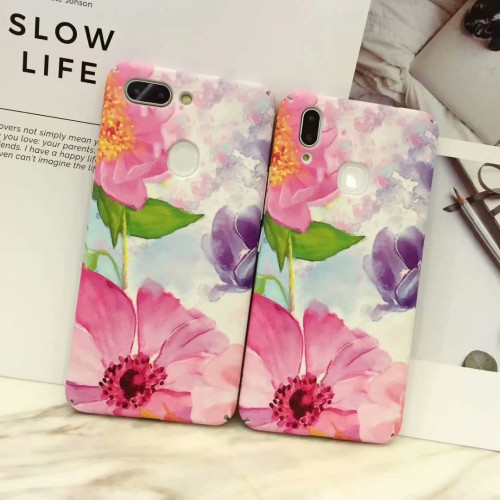 Watercolor Flowers case for Vivo V9 Y85 V7 Plus Y79 Matte Hard PC Case for Vivo X20 X21 phone back cover
