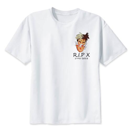 xxxtentacion R.I.P Character Print T-Shirt Fashion Casual Fitness Cool O-neck Men's T Shirt Summer Short Sleeve Men Clothing