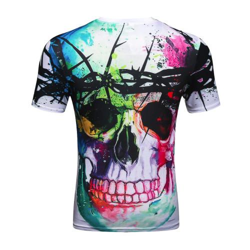 Devin Du new Fashion Brand T-shirt Hip Hop 3d Print Skulls Harajuku Animation 3d T shirt Summer Cool Tees Tops Brand Clothing