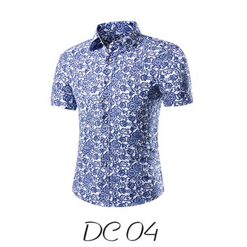 2018 Fashion Mens Short Sleeve Hawaiian Shirt  Summer Casual Floral Shirts For Men Asian Size M-3XL 10 Color