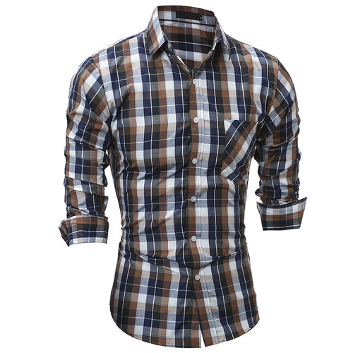 JCCHENFS 2018 Fashion Brand Shirt For Men Classic Plaid Shirt Casual Men's Shirts Long Sleeve Social Dress blouse