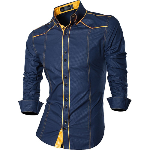 2018 Spring Autumn Features Shirts Men Casual Jeans Shirt New Arrival Long Sleeve Casual Slim Fit Male Shirts Z034