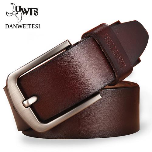 [DWTS]men's belt leather belt men male genuine leather strap luxury pin buckle fancy vintage jeans cintos masculinos