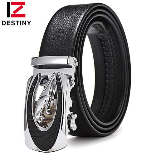 DESTINY Designer Belts Men High Quality Male Genuine Leather Strap Waist Luxury Brand Wedding Belt Jeans Ceinture Homme Fashion