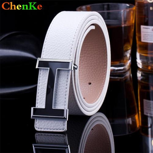 ChenKe 2017 Genuine Leather Designer Belts High Quality Smooth Buckle Belt Leather Belt Buckle Belts for Men Women Leisure