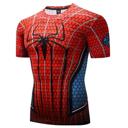 Rashgarda rashguard MMA 2018 captain america Fitness Compression Shirt Men Crossfit 3D Superman Punisher T Shirt Bodybuilding