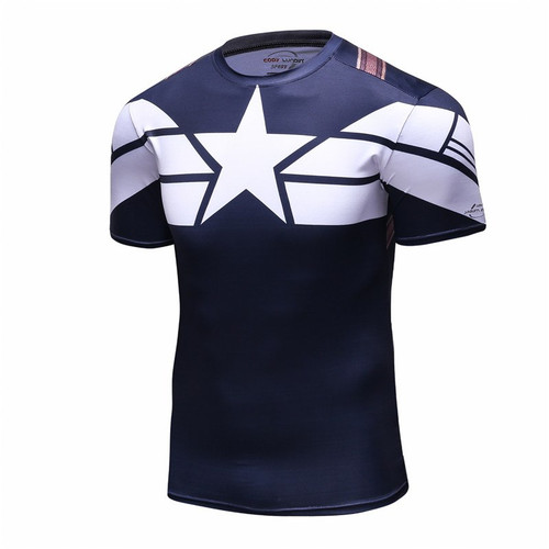 2018 Captain America 3D T Shirt Men Fitness Compression Shirts Tops Male Print Superhero Superman punisher Crossfit Anime T-Shir