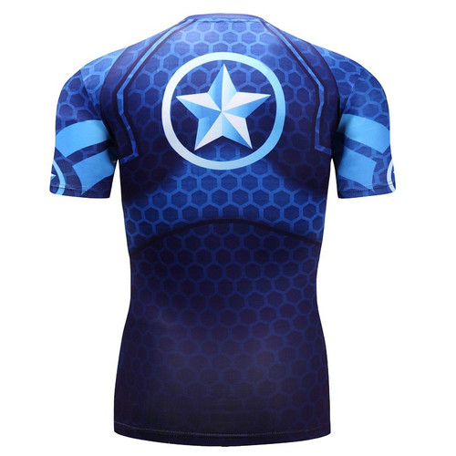 2018 New  mens T shirt Captain America 3D T Shirt Men Fitness Compression Shirts Superman punisher  Anime