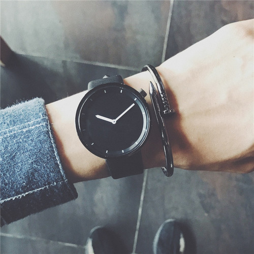 Minimalist stylish men quartz watches drop shipping 2018 new fashion simple black clock BGG brand male wristwatches gifts