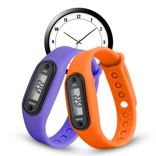 Digital LCD Walking Distance Pedometer Run Step Walking Distance Calorie Counter Wrist Women&Men Sport Fitness Watch Bracelet