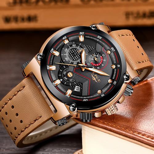 Reloje 2018 LIGE Men Watch Male Leather Automatic date Quartz Watches Mens Luxury Brand Waterproof Sport Clock Relogio Masculino