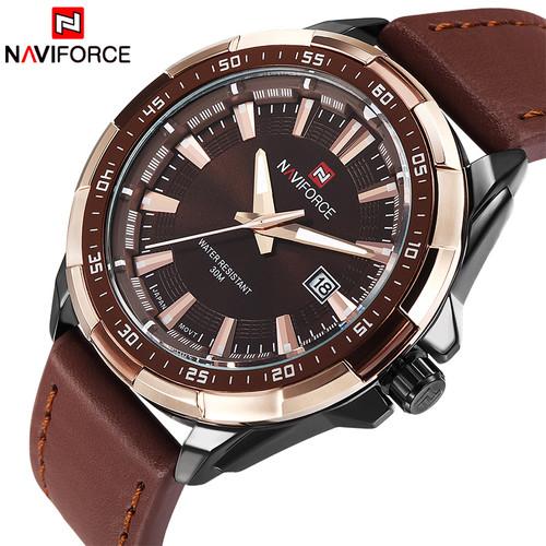 2018 NEW Fashion Casual NAVIFORCE Brand Waterproof Quartz Watch Men Military Leather Sports Watches Man Clock Relogio Masculino
