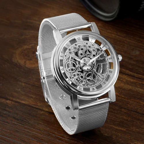 SOXY Brand Golden Silver Luxury Hollow Steel Watches Men Retro Hombre Quartz Wrist watch fashion casual Man Women Unisex Relojes