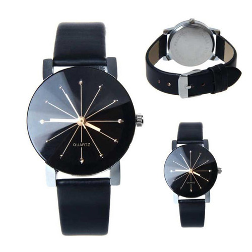 Hot 2018 New Fashion Watches Women Men Lovers Watch Leather Quartz Wristwatch Female Male Clocks Relogio Feminino Drop Shipping