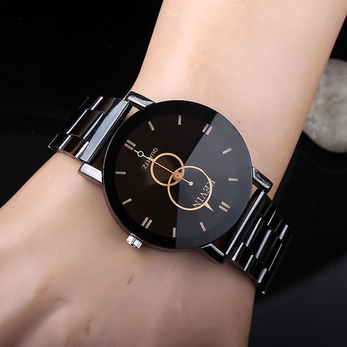 KEVIN New Design KEVIN New Design Women Watches Fashion Black Round Dial Stainless Steel Band Quartz Wrist Watch Mens Gifts relogios femininoWomen Watches