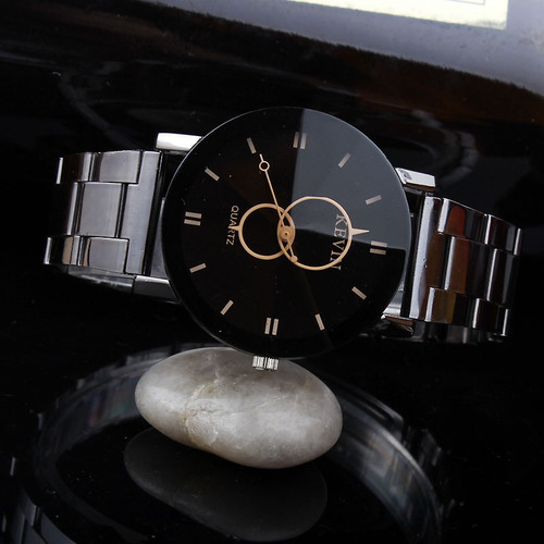 KEVIN NewKEVIN New Design Women Watches Fashion Black Round Dial Stainless Steel Band Quartz Wrist Watch Mens Gifts relogios feminino Design Women Watches