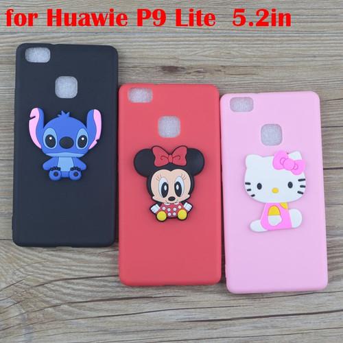 Cute Cartoon Minnie Case for Huawei P9 Lite 2017 P9 Lite mini Cases Stitch Hello Kitty Mickey Cat Soft TPU Phone Cover
