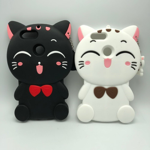 For Huawei Honor 9 Lite 3D Silicon Lucky Cat Cartoon Soft Cell Phone Case Cover for Honor 9 Lite 5.65 inch