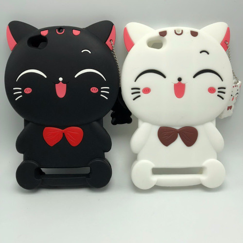 Xiaomi Redmi 5A 3D Silicon Lucky Cat Cartoon Soft Cell Phone Case Cover