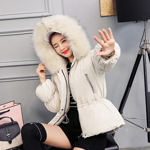 Fitaylor 2018 New Winter Jacket Women Faux Fur Hooded Parka Coats Short Bread Coat Female Thick Warm Snow Wear Jacket