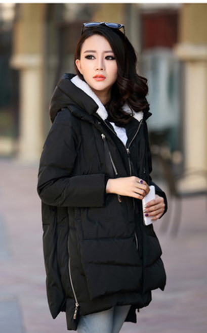 Fitaylor Winter Jacket Women Cotton Padded Loose Thick Hooded Parkas Plus Size Warm Winter Coat