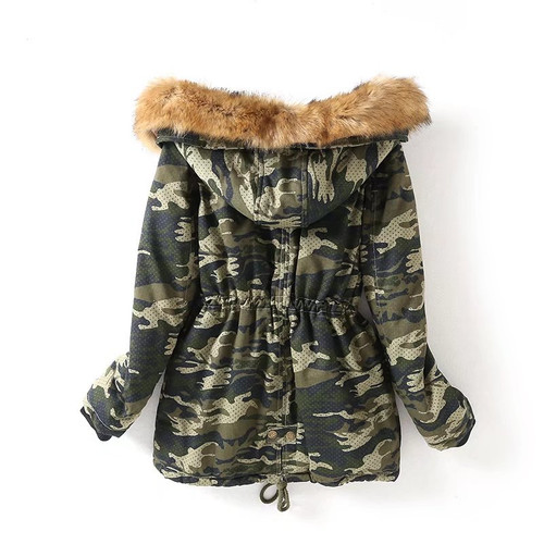 Fitaylor 2017 Fashion Big Size Fur Hooded Parka Mujer Shor Coat Winter Minus Warm Jacket Women Thick Cotton Padded Outwear
