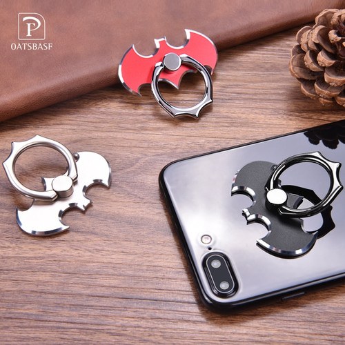 Bat 360 Degree rotate Finger Ring Phone Holder Smartphone Stand Zinc alloy Phone Ring For iPhone/Samsung/Xiaomi All Smart Phone