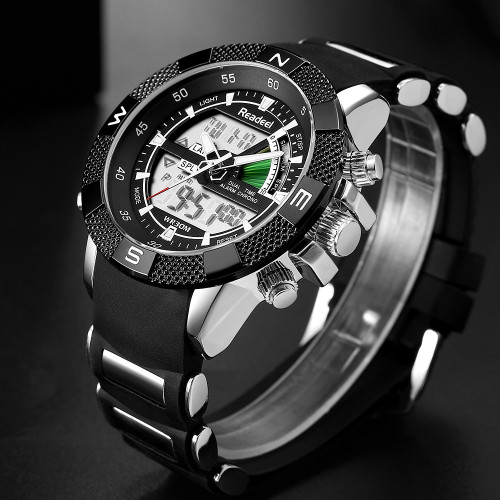 Readeel Fashion Brand Casual Watch Men Military Sports Watches Men's Waterproof Shock Led Digital Quartz Wrist Watches for Men