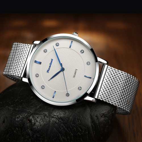 Eyki Top Brand Luxury Watch Men Brand Mens Watches Stainless Steel Mesh Band Quartz Wristwatch Sun Moon And Stars Dress Watch Lover's Watches