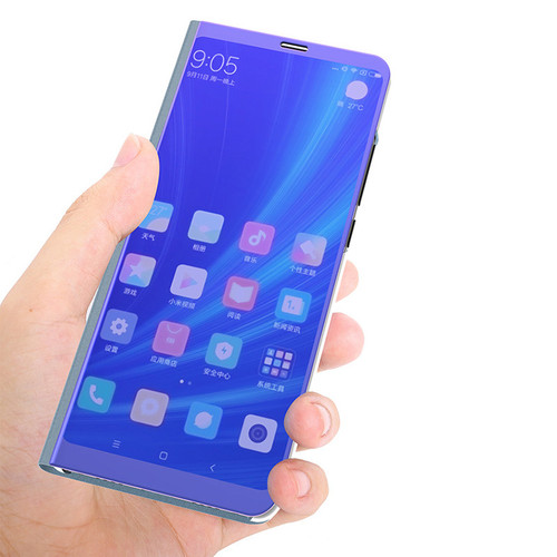 Luxury Flip Stand Touch Case for Xiaomi Mi A2 6X Leather Clear Smart View 360 Mirror Phone Cases for Xiomi Xaomi Mi6x Mia2 Cover