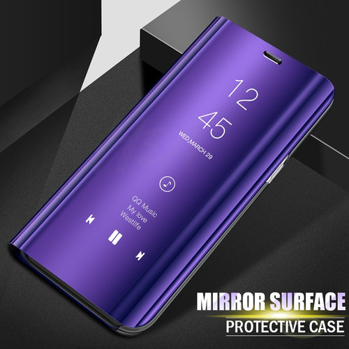 H&A Luxury Plating Mirror Flip Case For Samsung Galaxy S7 J7 J5 J3 A8 A7 A5 A3 Stand Cover Case For Samsung S9 S8 Plus Note 8