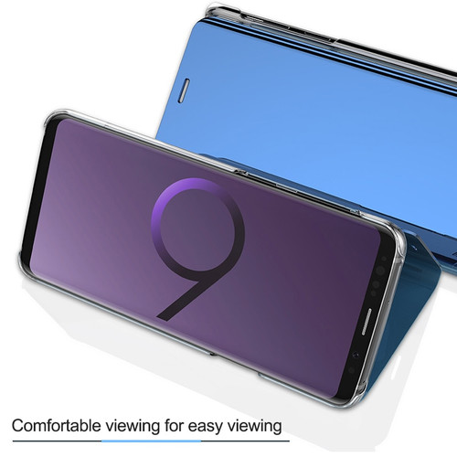 Clear Mirror Smart Flip Case For Samsung J7 J5 J3 2017 A7 A5 A3 Leather Flip Stand Case For Samsung Galaxy S9 S8 Plus A8 Cover