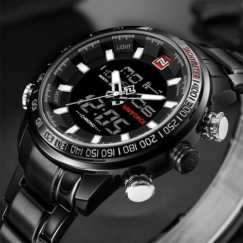 NEW Top Luxury Brand Men Sports Wrist Watch Men's Military Waterproof Watches Men Full Steel LED Digital Watch Clock Male