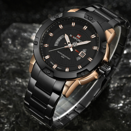 Mens Watches Top Luxury Brand NAVIFORCE Men Full Steel Watches Quartz Watch Analog Waterproof Sports Army Military WristWatch