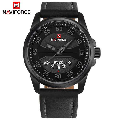 New Luxury Brand NAVIFORCE Men Fashion Casual Watches Men's Quartz Clock Man Leather Strap Army Military Sports Wrist Watch