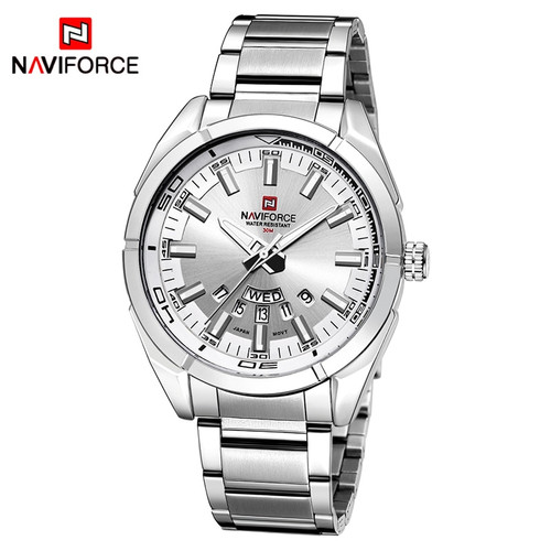 2017 NAVIFORCE New Top Brand Men Watches Men's Full Steel Waterproof Casual Quartz Date Clock Male Wrist watch relogio masculino